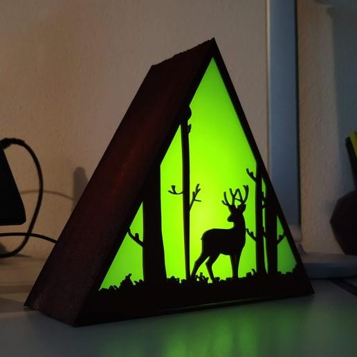 IMG_20201013_184530.jpg Descargar archivo STL Lámpara ciervo • Plan de la impresora 3D, filaprim3d