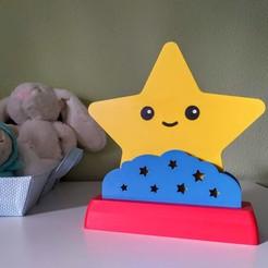 light_off_1.jpg Download STL file Child's star nightlamp • 3D printable design, filaprim3d