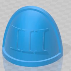 shoulder_III.png Download free STL file Roman III Shoulder Pad • Object to 3D print, Haarspalta