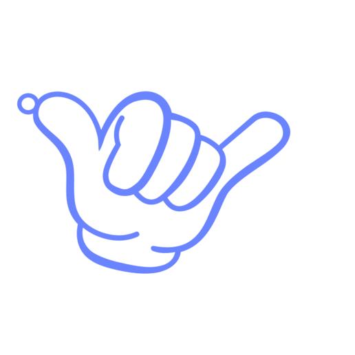 hang loose.png Télécharger fichier STL gratuit Porte-clés porte-clés porte-clés à suspendre • Plan à imprimer en 3D, romerogagustin