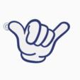 hang loose2.png Télécharger fichier STL gratuit Porte-clés porte-clés porte-clés à suspendre • Plan à imprimer en 3D, romerogagustin