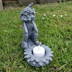Download 3D printing models Pixie candle holder, bobp