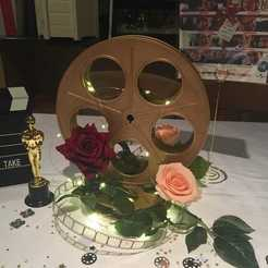 Download free STL file Vintage film reel table decoration • 3D printable object, bobp