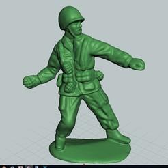 Télécharger fichier STL gratuit Soldat de plomb lançant une grenade, bobp