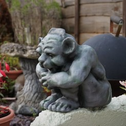 Free STL files Happy gargoyle troll figure, bobp