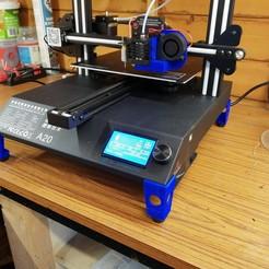 Descargar archivo 3D gratis Geeetech A20 patas elevadoras y conversión de ventilador de 120mm, bobp