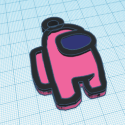 Download free STL file AmongUs keychain • Template to 3D print, job_pachuca