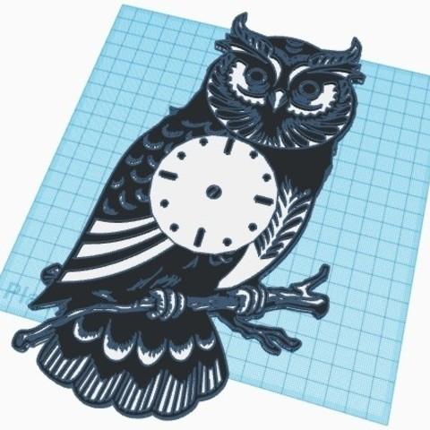 buho.jpg Télécharger fichier STL gratuit Horloge murale chouette • Design à imprimer en 3D, job_pachuca