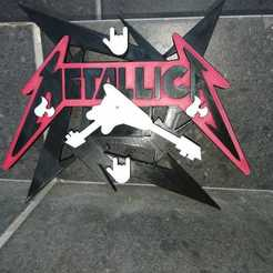 Download free 3D printing models Metallica clock, job_pachuca