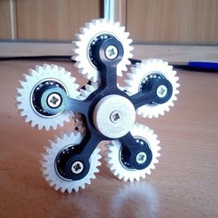 Free 3D printer files Spinner 6 gear, vlas5