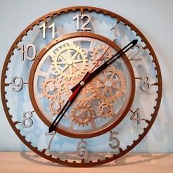 Download STL files Clock with decorative mechanism 2, vlas5