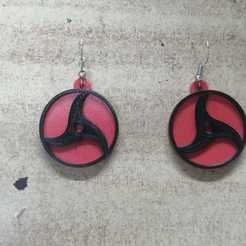 Download free 3D print files Sharingan earrings [Itachi], Canek