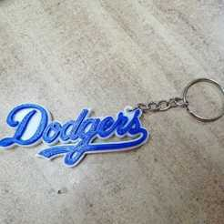 Impresiones 3D gratis Los Angeles Dodgers keychain, Canek