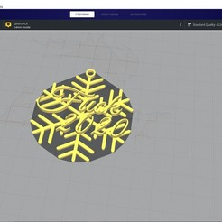 Captura de pantalla 2020-11-18 174522.jpg Download STL file Fuck 2020 Snowflake • 3D printer template, rodrigo191637
