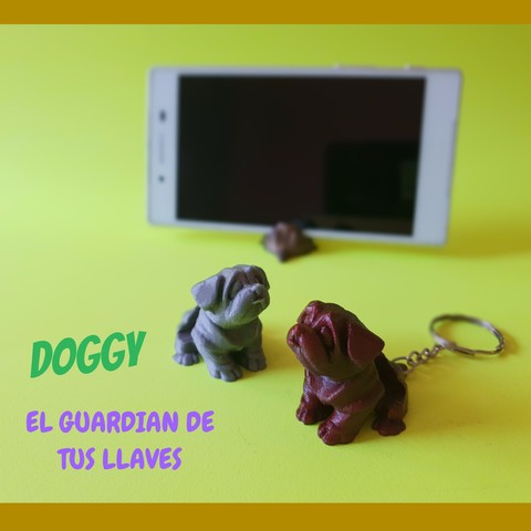 3D print model DOGGY KEYCHAIN EASY PRINT, don3dprinted