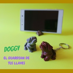 Sin Título (9).jpg Download STL file DOGGY KEYCHAIN EASY PRINT • 3D print design, don3dprinted
