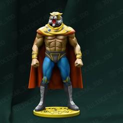 tigermask2r1.jpg Download STL file Tiger mask • 3D printing design, JulioCesar_3DD