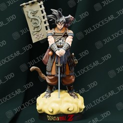 Descargar archivo 3D Dragon Ball Shogun - Goku, JulioCesar_3DD
