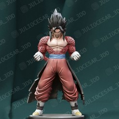 vegetoXenossj4ma.jpg Download STL file Dragon ball - Vegito Xeno ssj4 time patrol • 3D printing template, JulioCesar_3DD