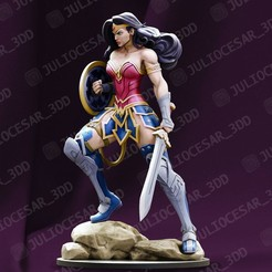 wwr2ma.jpg Download STL file WonderWoman • 3D printing object, JulioCesar_3DD