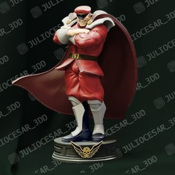 mbisonr1.jpg Download STL file Street Fighter - Shadaloo M Bison Dictator  • Template to 3D print, JulioCesar_3DD