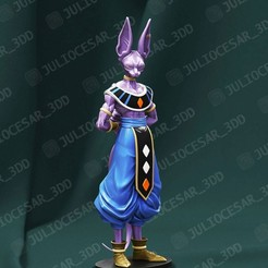 bills1r1.jpg Download STL file Dragon ball - Beerus sama • Object to 3D print, JulioCesar_3DD