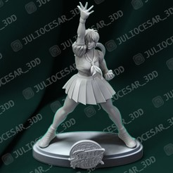 sakurar2ma.jpg Download STL file Street fighter - Sakura Kasugano • Design to 3D print, JulioCesar_3DD