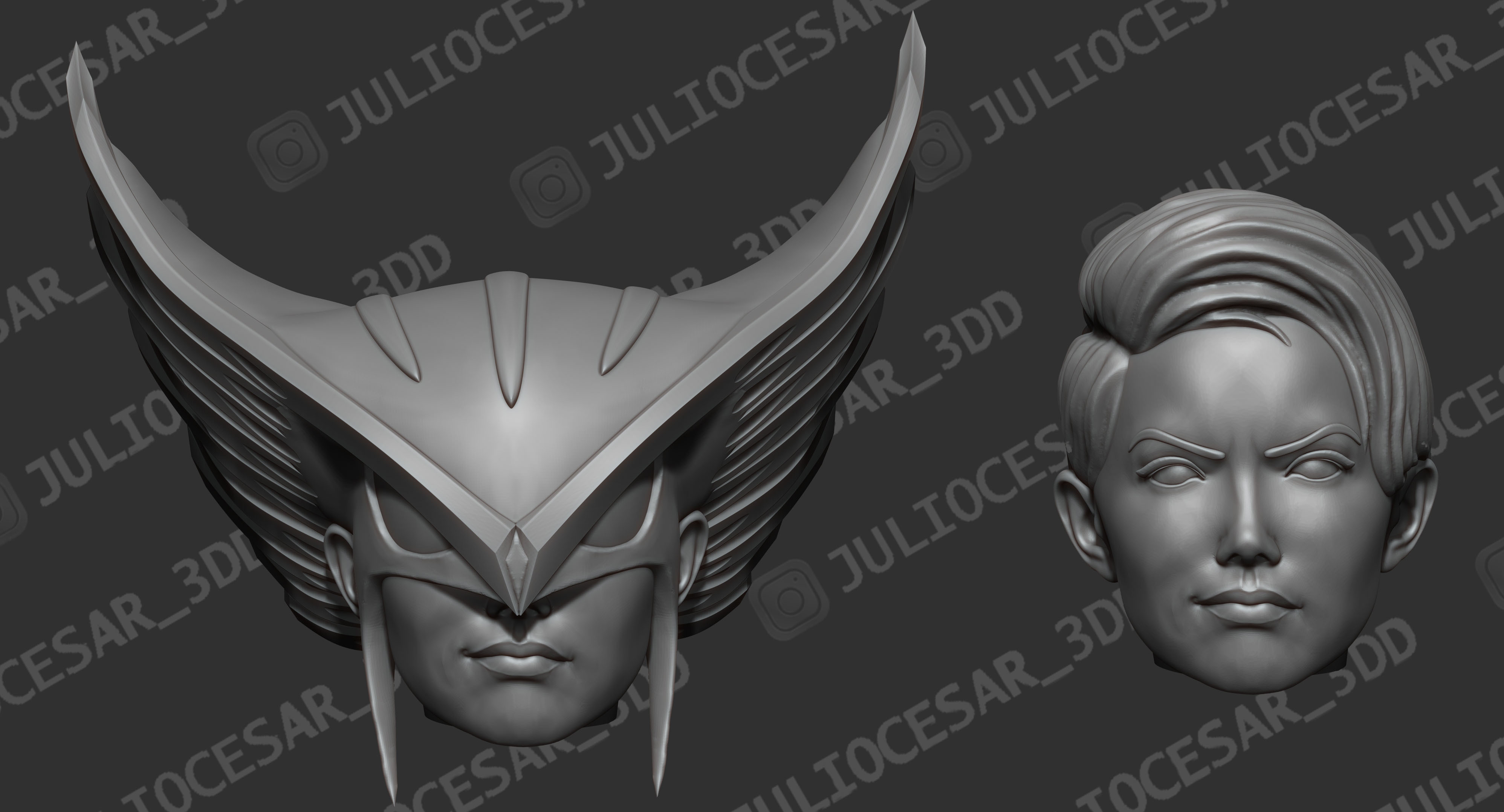 r5ma.jpg Download STL file HawkGirl • 3D printable template, JulioCesar_3DD