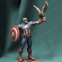 capclassicr2.jpg Download STL file Captain America classic • 3D printer object, JulioCesar_3DD