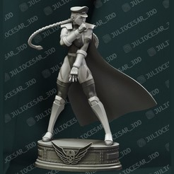cammyr3.jpg Download STL file Street Fighter - Shadaloo Cammy Dictator  • 3D printer model, JulioCesar_3DD