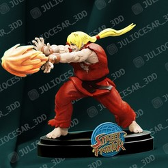 kenr1ma.jpg Download STL file Street fighter - Ken Masters • 3D print template, JulioCesar_3DD