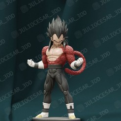 Download 3D printing templates Dragon ball - Vegeta Xeno SSJ4 time patrol, JulioCesar_3DD