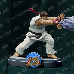 ryu1ma.jpg Download STL file Street fighter - Ryu • 3D printing object, JulioCesar_3DD