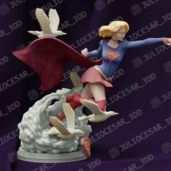 supergirlr1.jpg Download STL file SuperGirl • 3D print design, JulioCesar_3DD