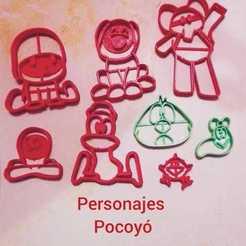 Descargar STL Pocoyo Cookie Cutters, Maxi1959