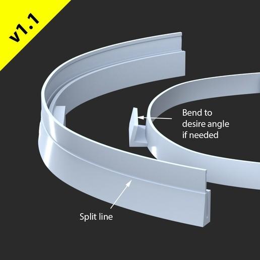 v1.1FM-FaceShieldb.jpg Download free STL file Hopio Simple Eyes Shield v1.1 • 3D printer design, hopio