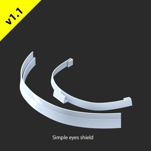 v1.1FM-FaceShield.jpg Download free STL file Hopio Simple Eyes Shield v1.1 • 3D printer design, hopio