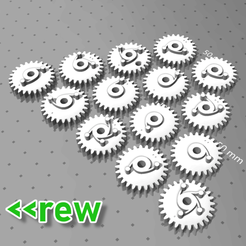 Download free 3D print files reverse gear set for 7-Segments, fhuable