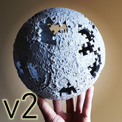 Download 3D printer designs The Moon Puzzle - v2, fhuable