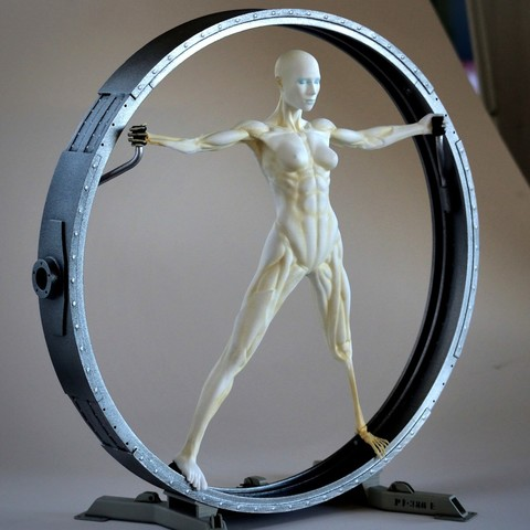 Download 3D printing templates Vitruvian Host  (Westworld), fhuable