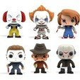 Download free STL file halloween pack funko x6 it chucky freddy krueger myers jason, shacomieron9