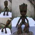 Download free STL file articulated and static groot • 3D printer object, shacomieron9