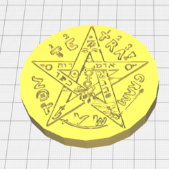 Download 3D printer designs Tetragramatón ( amulet ), santosjara