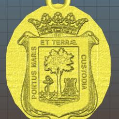 escudo huelva.png Télécharger fichier STL Porte-clés rond Huelva • Objet pour imprimante 3D, naadia_21