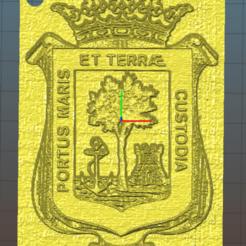 escudo huelva cuadrado.png Télécharger fichier STL Porte-clés carré Huelva • Objet imprimable en 3D, naadia_21