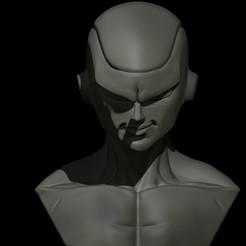 01.jpg Download STL file Freezer bust DRAGON BALL Z • 3D printable template, Loztvayne