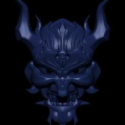 4.5.jpg Download STL file Oni Mask • 3D printing model, Loztvayne