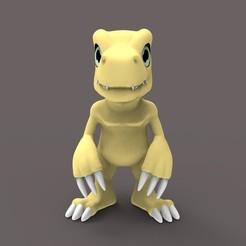 untitled.15.jpg Download STL file Agumon Digimon • 3D printable object, Loztvayne