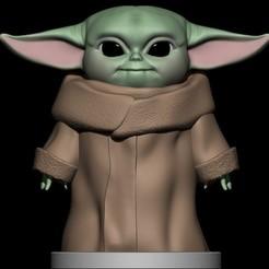 BPR_Render.jpg Download STL file Baby Yoda • 3D printer template, Loztvayne