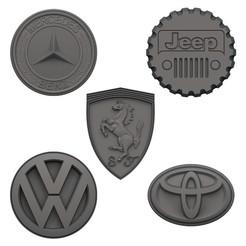 Download 3D printer files Car logo Fridge Magnets V1, print3dstv